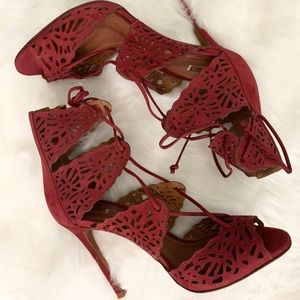 SCHUTZ Ruby Red Hot Strappy Sandals